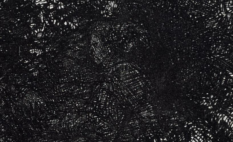 """Annette meets Rembrandt: Die Mitglieder der Droste-Gesellschaft staunten bei ihrem Besuch des Draiflessen-Museums/Mettingen nicht schlecht, als sie auf Rembrandts Radierung ein verstecktes Porträt der Dichterin erkannten. Man war amüsiert und dankt der Museumsleitung für die Überlassung der Abdruckrechte aus: Rembrandt van Rijn (1606–1669), """"Die Landschaft mit den drei Bäumen"""", 1643 ©Draiflessen Collection (Liberna), Mettingen P 126. Foto: Stephan Kube, Greven"""