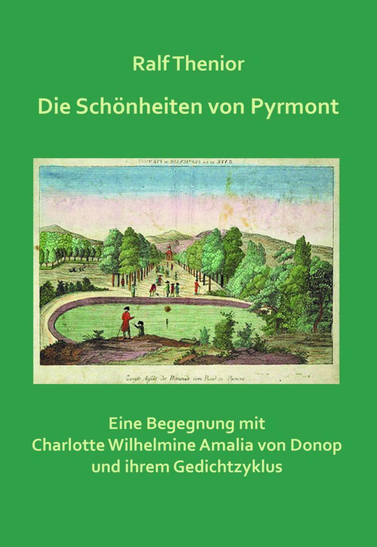 """Cover von Ralf Theniors """"Die Schönheit Pyrmont"""". Coverabbildung bereitgestellt vom Museum im Schloss Bad Pyrmont"""